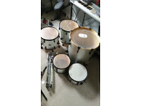 Sonor 5 piece drum kit with cymbal stand & tom mount