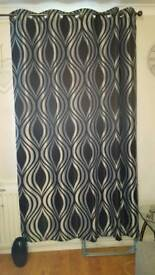 Black and gray curtains. 66x90