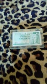 highly collectable 1 pound note