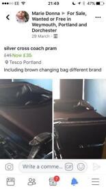 Vintage 1970s silver cross coach pram