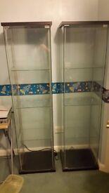2 off Glass-door cabinets