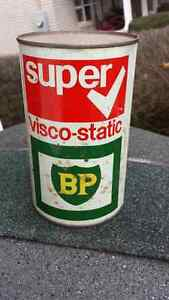Rare Vintage BP Oil Super visco-static full oil can 10w40