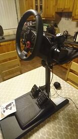 Playstation 3 Logitech Driving Force GT steering wheel ,pedals and stand.