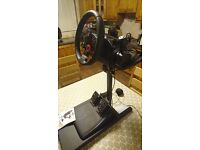 Logitech Driving Force GT steering wheel ,pedals and stand.