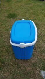 blue food cooler