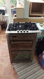 Whirlpool integrated double oven and hob