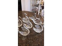 Collection of15 Glass Swans
