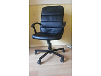 IKEA BLACK CHAIR FOR SALE (+ OTHERS: MATTRESS, LAMPS, IKEA TABLE, ARMCHAIR, ELECTRIC HEATER)
