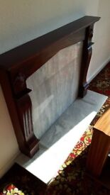 Fire surround, wood and marble (I think)