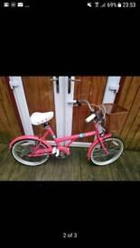 "Bike girls 20"" pink varsity bike"
