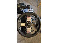 Logitech G27 Steering Wheel + Shifter & Adjustable Stand