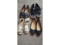 4 pairs of Girls shoes Size 1