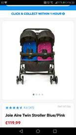 Joie Double buggy with 2 cosey toes