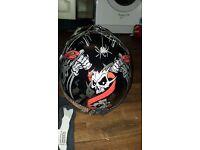 Spider web helmet