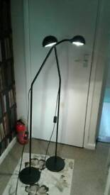 Lamps 2x free standing lights flexible in good condition