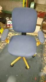 Bedroom swivel sliding study chair