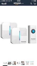 Door Bell, iTechole IP55 Waterproof Wireless Doorbell Chime Kit with 1000ft Range,
