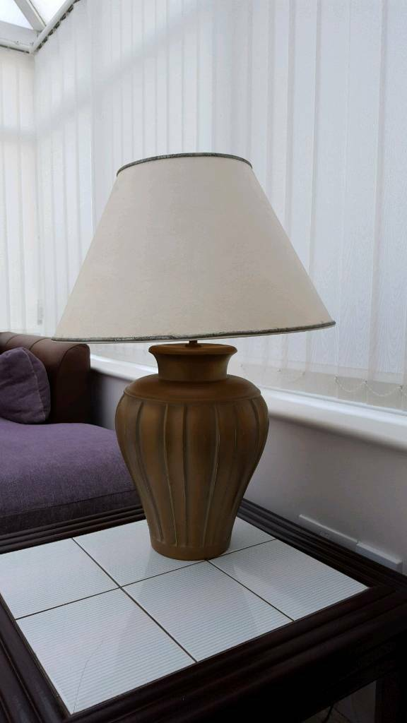 Stylish lampshade in good condition and working order.