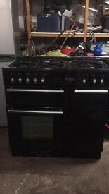 Black rangemaster cooker gas and electric ovens 90cm