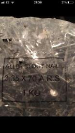 Alloy Roofing Nails 70mm x 3.5mm 1KG