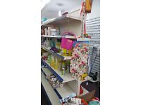 Shop shelves and other equipment for sale