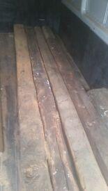 Oak beams old reclaimed