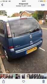 Vauxhall Meriva double electric sunroof
