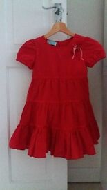 Gorgeous red dress for 8 year old