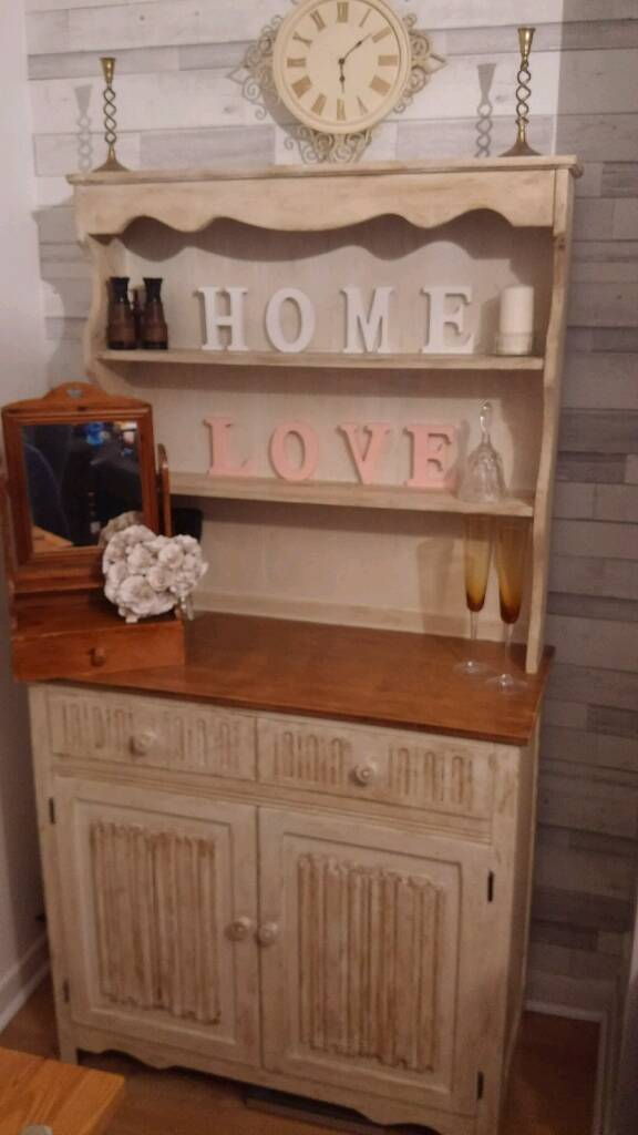 Shabby Chic Welsh Dresser With Sanded Top