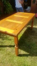 Solid wooden table and 6 chairs