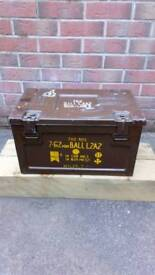 Vintage military ammunition box