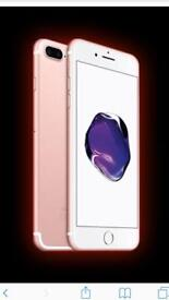 I phone 7plus rose gold 3 months old