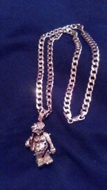 9ct glod chain and monkey