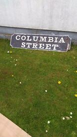 Old Victorian Street sign. Cast iron