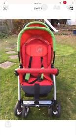 Jane double pushchair
