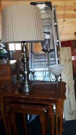 table lamps x 2 + 2 ceiling lights +2 wall lights
