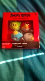 Angry birds sealed collectors edition fuzzy feather flingers immaculate condition