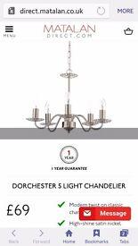 Living room light...Dorchester 5 Chandelier lights £35.00