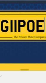 PRIVATE REGISTRATION NUMBER G11POE