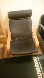 Leather arm chair rocking perfect condition