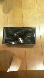 Unworn Vers Iles stylish black shoes with Italian flag stripes size 44