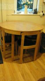 Kitchen table and four chairs for sale