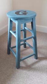 "Footstool upcycled ""Tom's Boatyard"" (Annie Slone chalk paint)"