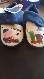 BNWT George Pig slippers from Peppa Pig size 7 infant
