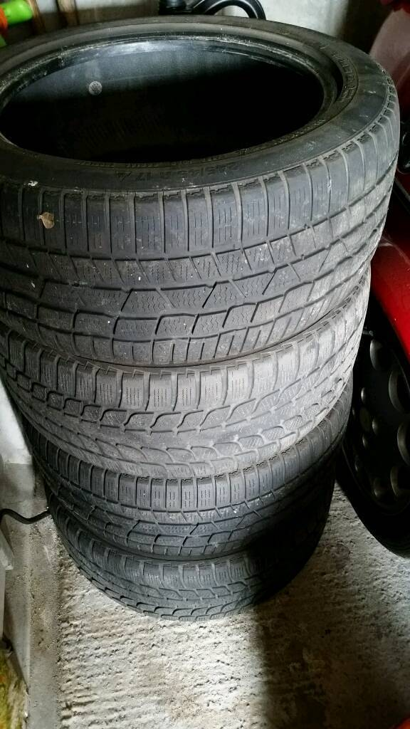 4x Winter Tyres 245/45 R17 99H thread 7-8mm EXCELLENT CONDITION