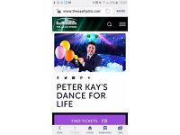 4 X Peter Kay Dance for Life Tickets £100