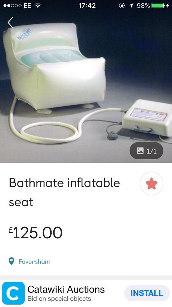 BATHMATE INFLATABLE BATH SEAT | in Heathrow, London | Gumtree