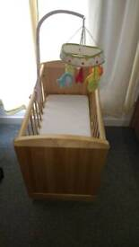 Mothercare deluxe gliding wooden cot