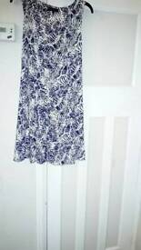 Blue /white dress new look size 6