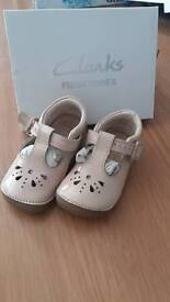 Clarks first shoes light pink